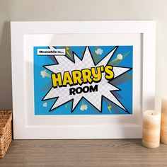 Personalised Print - Comic Explosion | GettingPersonal.co.uk