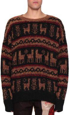 Dries Van Noten Tardos Wool Jacquard Sweater