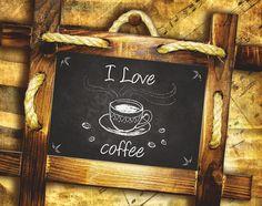 Coffee Wall Art Print Digital file Coffee by AtticOfMemories #coffeeart