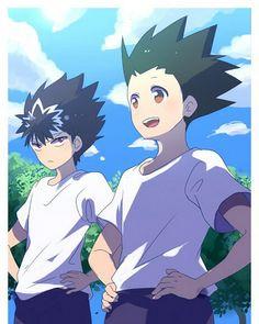 Hiei and Gon   (cross-over)      ~Hunter X Hunter & Yu Yu Hakusho
