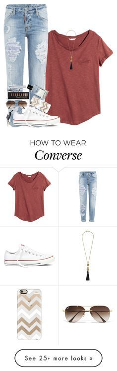 """""""1K FOLLOWERS, OMG!!! READ D!❤️❤️"""" by theblonde07 on Polyvore featuring H&M, Dsquared2, Converse, Casetify, Bobbi Brown Cosmetics, Kenneth Jay Lane, Forever 21, Ray-Ban and Neutrogena"""