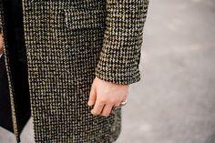 manteau bruggen en laine noire Agnes B. en noir pour homme