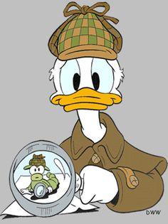Or maybe Sherduck Holmes! Walt Disney Co, Disney Duck, Disney Magic, Disney Art, Disney Best Friends, Mickey Mouse And Friends, Baymax, Original Sherlock Holmes, Donald And Daisy Duck