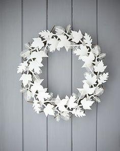 Cardboard Leaf Wreath