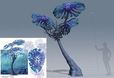 The Foundry Community :: Forums :: speed tree new Version 7 - better now? Alien Plants, Weird Plants, Alien Creatures, Fantasy Creatures, Avatar Tree, Avatar Film, Bg Design, Alien Concept Art, Alien Worlds