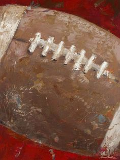 """""""Vintage Football"""" - Canvas Wall Art from Oopsy daisy, Fine Art for Kids."""