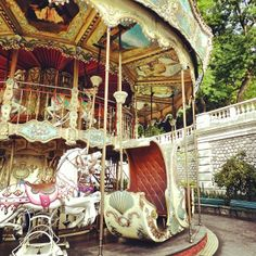 The Montmartre carousel will take you back to another time.    Photo courtesy of mybeautifulpari on Instagram.