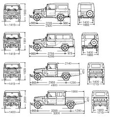 Toyota Dimensions & Drafts
