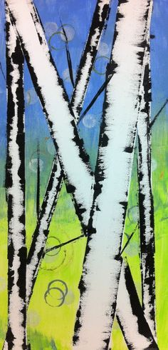 birch http://angelaandersonart.blogspot.com/2012/11/easy-birch-trees-kids-art-class.html?m=1
