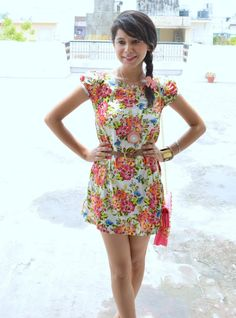 Outfit+of+the+Day+Floral+Print+Summer+Dress