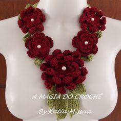 Winter Accessories, Crochet Scarves, Tatting, Crochet Necklace, Diy Crafts, Flowers, Inspiration, Jewelry, Scarfs