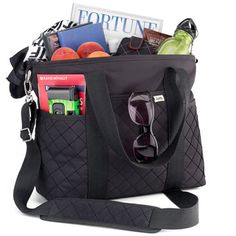 """The Active Tote Bag means never thinking, """"I wish I had a pocket for that."""" With this fun, fashionable tote bag, it's pockets galore for all of your daily or travel needs.  Use as a craft bag."""
