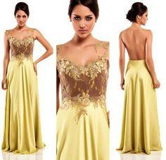 Vestido de festa renda com gloss light by Camila Siqueira