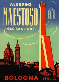 Luggage labels from Bologna. www.italianways.com/bologna-luggage-labels-from-the-city-of-towers/ #vintage #bologna #design