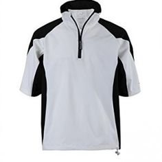 Woodworm Golf V2 Waterproof Half Sleeve Top Slipover Windshirts Wht XL