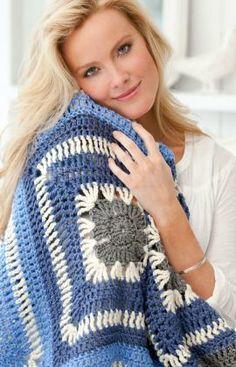 Speedy Granny Throw Free Crochet Pattern from Red Heart Yarns
