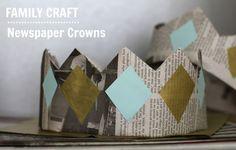 Salsa Pie: Family Craft: Newspaper Crowns!