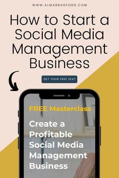 Learn how to start yorr very own social media management business while working from home! I put together this FREE MASTERCLASS to teach you how to get started even as a total beginner. #socialmedia #workfromhome Business Marketing Strategies, Social Media Marketing Business, Marketing Tools, Social Media Tips, Content Marketing, Affiliate Marketing, Internet Marketing, Online Marketing, Creative Business