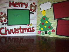 Merry Christmas with Santa Bears Pre Made 12 by aSavvyScrapbooker, $12.00