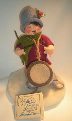 """Drummer Boy Annalee Mobilitee 1996 Doll 8"""" Tall #7200 Red Coat Green Scarf in Dolls & Bears, Dolls, By Brand, Company, Character 