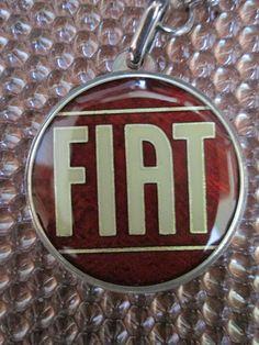 FIAT, PORTACHIAVI IN ARGENTO, SILVER 925 KEY HOLDER, VINTAGE, NOS