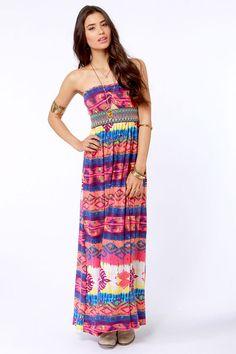 Gypsy Junkies Talulah Dress - Maxi Dress - Strapless Dress - $79.00