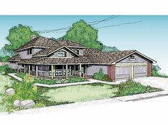 Eplans Farmhouse House Plan - Four Bedroom Farmhouse - 2492 Square Feet and 4 Bedrooms from Eplans - House Plan Code HWEPL56985
