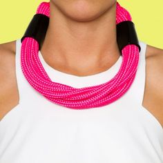 Zanskar Necklace - Hot Pink