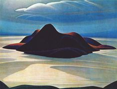 Pic Island Lake Superior by Lawrence Harris,1924. Canadian Group of Seven