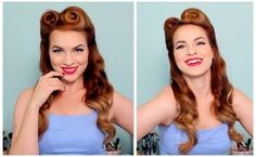 This is my favourite 50s pin up style of hair by far! Definitely going to try this out!