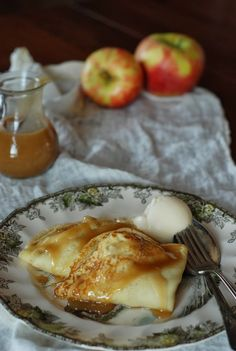 I have been putting sauteed apples in and on everything lately. I'm especially fond of sauteed apples and walnuts on top of my oatme...
