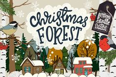 Christmas Forest Collection - 20% early bird discount By Sketchetarian