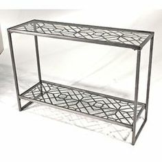 Vita V Home Metal Filigree Console Table   AllModern