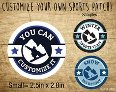 Snowboarding Custom Patches - Personalized Snowboarding Patches