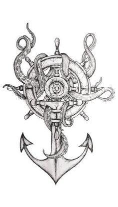 maori tattoos and their meanings Tattoo Sleeve Designs, Tattoo Designs Men, Sleeve Tattoos, Ship Tattoo Sleeves, Octopus Tattoo Design, Octopus Tattoos, Small Octopus Tattoo, Trendy Tattoos, Tattoos For Women