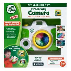 LeapFrog Creativity Camera App with Protective Case, Green (Works with iPhone 4/4s/5 and iPod touch 4G)