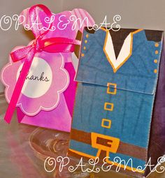 Tangled Flynn Rider & Rapunzel Treat Boxes $7.00 printable