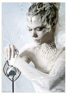 ❣ღ❣ Snow Queen. Headdress, Headpiece, Turandot Opera, Foto Fantasy, Fantasy Hair, Fantasy Makeup, Foto Fashion, High Fashion, Fantasy Photography