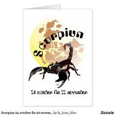 Scorpiun 24 october fin 22 november Karte