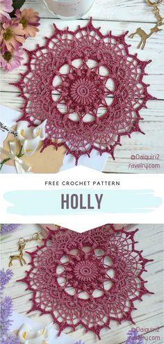 Crochet Dreamcatcher Pattern Free, Crochet Circle Pattern, Crochet Circles, Free Crochet Doily Patterns, Crochet Doily Diagram, Crochet Motif, Crochet Baby, Free Pattern, Crochet Dollies