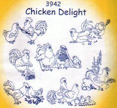 NEW Aunt Martha Designs - CHICKEN DELIGHT - Transfer Patterns