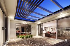 Alfresco patio backyard design. The Nirvana display home by #VenturaHomes #giraffe #giraffeprint #animalprint