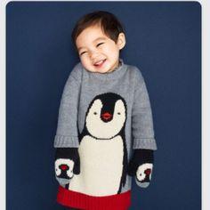 GAP Kids(ギャップキッズ)のGAP★ペンギンニットOP キッズ/ベビーのキッズ服 女の子用(90cm~)(ワンピース)の商品写真