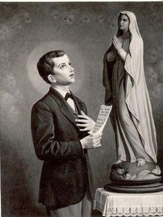 Santo Domingo Savio y la Virgen María.