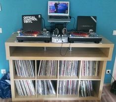 IKEA Hackers: Minimalistic fast buildup DJ Console. For Cole's room.