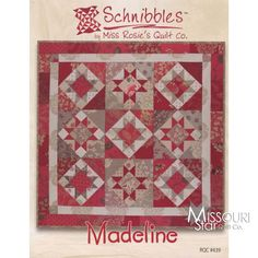 Schnibbles - Madeline Mini Quilt Pattern By Miss Rosie's Quilt Co. SKU# RQC439 -C - Miss Rosie's Quilt Co