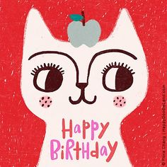 I'm really pleased to be able to share the work of Flora Chang with you today, also known as Happy Doodle Land over in her etsy sh. Happy Birthday Art, Happy Birthday Images, Happy Birthday Greetings, Birthday Greeting Cards, Birthday Messages, Happy Doodles, Outdoor Birthday, Birthday Posts, Happy B Day