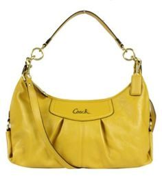 Coach Leather Ashley Convertible Hobo Handbag 19761 Sunflower Yellow, I have this!!!