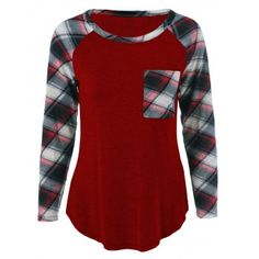 SHARE & Get it FREE | Single Pocket Plaid Sleeve T-ShirtFor Fashion Lovers only:80,000+ Items·FREE SHIPPING Join Dresslily: Get YOUR $50 NOW!