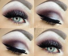 WOW! This is a stunning head turner.  All the women will be begging to know how to do it and all the men will be noticing your stunning eyes.  This is an excellent look for a night out with the girls.